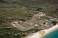 Ancient Roman town of Baelo Claudia near Tarifa. Cadiz Province, Spain. From 1st century AC till 2nd century, partly destroyed by a tidal wave around ...