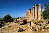 Temple of Herakles Hercules, Valley of the Temples, Agrigento, Sicily, Italy