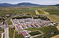 Tahivilla village with its sports fields Cádiz area Spain