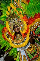 Costumed dancers celebrate the New Year with the Junkanoo Parade on January 1, 2013 in Nassau, Bahamas  The carnival like festival is celebrated in th...