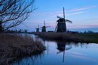 Dusk at the Drie Molen, Leidschendam, Zuid-Holland, The Netherlands