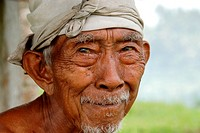 portrait of old indonesian man