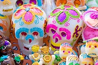 Oaxaca, Mexico, North America  Day of the Dead Celebrations  Candy Sugar Skulls