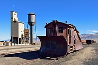 historic snowplow at Nevada Northern Railway Museum, Ely, Nevada, USA, North America.