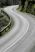 Curves in the road, Aia, Gipuzkoa, Basque Country, Spain.