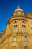 Scotland, Glasgow, Glasgow City. Detail shot of ornate architecture in Glasgow City.