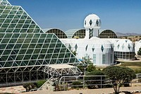 Oracle, Arizona USA - Ultramodern architecture at Biosphere 2 where scientists study the potential for space colonization inside a sealed environment.