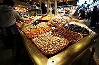 Food market La Boqueria Barcelona, Catalonia, Spain.