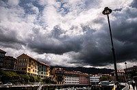 View of Llanes from port. Asturias, Spain.