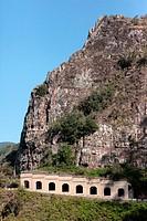 road tunnel and rock in Batan municipality Tenerife island