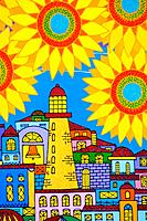 International Folk Art Market in Santa Fe, New Mexico. More than 190 artists and craftsmen from 60 countries from all over the globe. Naive paintings ...