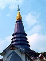 Phra Mahathat Napapolphumisiri temple on Doi Intanon mountain, Chiang Mai, Thailand.