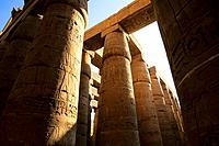 EGYPT, NILE RIVER, LUXOR, TEMPLE OF KARNAK, GREAT HYPOSTYLE HALL.