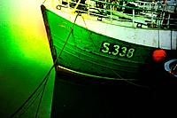 Ireland series in detail. Fishing boat in the harbor.