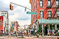 Intersection of Bedford Avenue and North 7th Street, Williamsburg, Brooklyn, NY.