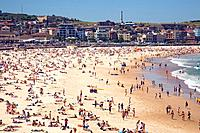 bondi beach in sydney eastern suburbs,new south wales.