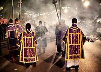 Holly week celebration in Malaga, Andalucia, Spain