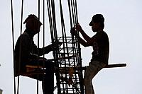 Construction Workers in Sihanoukville, Cambodia.