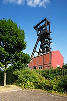 Germany, Bochum, Ruhr area, Westphalia, North Rhine-Westphalia, NRW, Bochum-Wattenscheid, colliery Holland, former coal mine, shaft tower, IBA project...