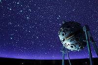 Germany, Bochum, Ruhr area, Westphalia, North Rhine-Westphalia, NRW, Zeiss Planetarium, interior view, auditorium, astronomy, spangled sky, starry con...