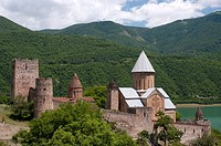 Fortified monastery at Ananuri, north of the Georgian capital of Tbilisi.
