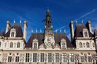 Hotel de Ville, Paris, Ile de France, France.
