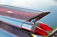 Tail fins of a 1959 Cadillac, 52 Series.