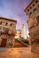 St. James way; Church of San Pedro de la Rua at Estella, Navarra, Spain.