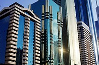 Office buildings along Sheikh Zayed Road
