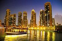 Boat atThe Dubai Fountain, Dubai, United Arab Emirates