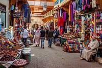 Street Market in The Medina (Old City), Fez, Morocco.