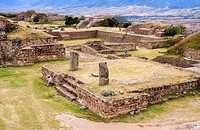 The archaeological ruins of Monte Alban. Santa Cruz Xoxocotlán, Oaxaca. Mexico