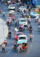 Traffic, Sisowath Quai, Phnom Penh, Cambodia