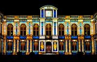 ´Rendez-vous Place du Parlement´, light show on the Parliament of Brittany building, Parlement de Bretagne, Rennes, Ille-et-Vilaine, Bretagne, Brittan...
