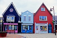 Brightly coloured shops, Kinsale, Republic of Ireland