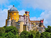 Palacio Nacional de Pena - Pena National Palace in Sintra, Portugal.