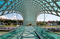 The Bridge of Peace, Tbilisi, Republic of Georgia.