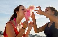 girl children teenager candyfloss.