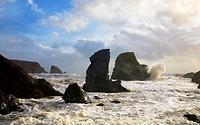 Storm at Ballydowane Beach, Copper Coast, County Waterford, Ireland.