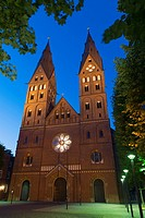 St. Mary´s Cathedral of Hamburg, Germany.
