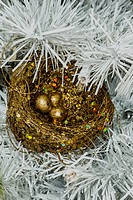 Christmas Decorations 2014 Nest of Golden Eggs.