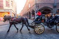 Bruges in a carriage.