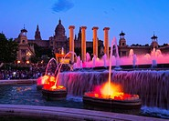 Font Magica de Montjuic - famous fountains in Barcelona, Catalonia, Spain.