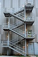 Emergency stairs, Terrassa, Catalonia, Spain