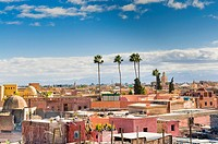 Rooftop view, Marrakech (Marrakesh), Morocco, North Africa, Africa.