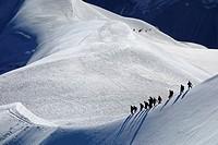 Mountain Hikers, Chamonix, France, Europe.