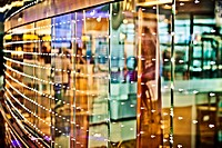 Abstract creative photo of colorful lights and reflections.