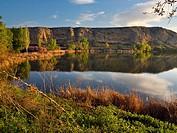 Campillo Lagoon in Rivas-Vaciamadrid. Madrid. Spain.