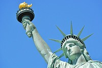 Statue of Liberty on Liberty Island, New York, USA.