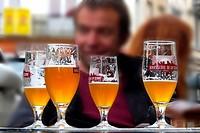 Drinking beers, Brussels, Belgium